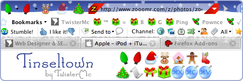 Tinseltown - A Christmas Firefox Theme