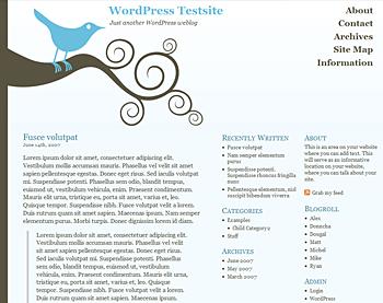 Bluebird WordPress Theme