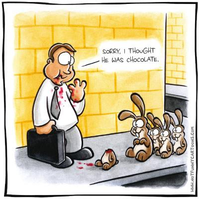 one dozen funny easter cartoons