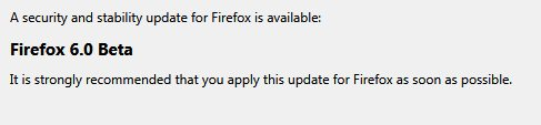 Firefox 6 Beta Update