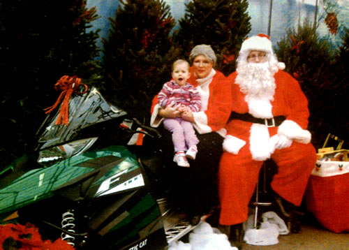 Lily with Santa & Mrs Claus