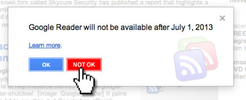 Google Reader - Not OK