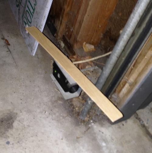 how to fix garage door sensor from sun 2