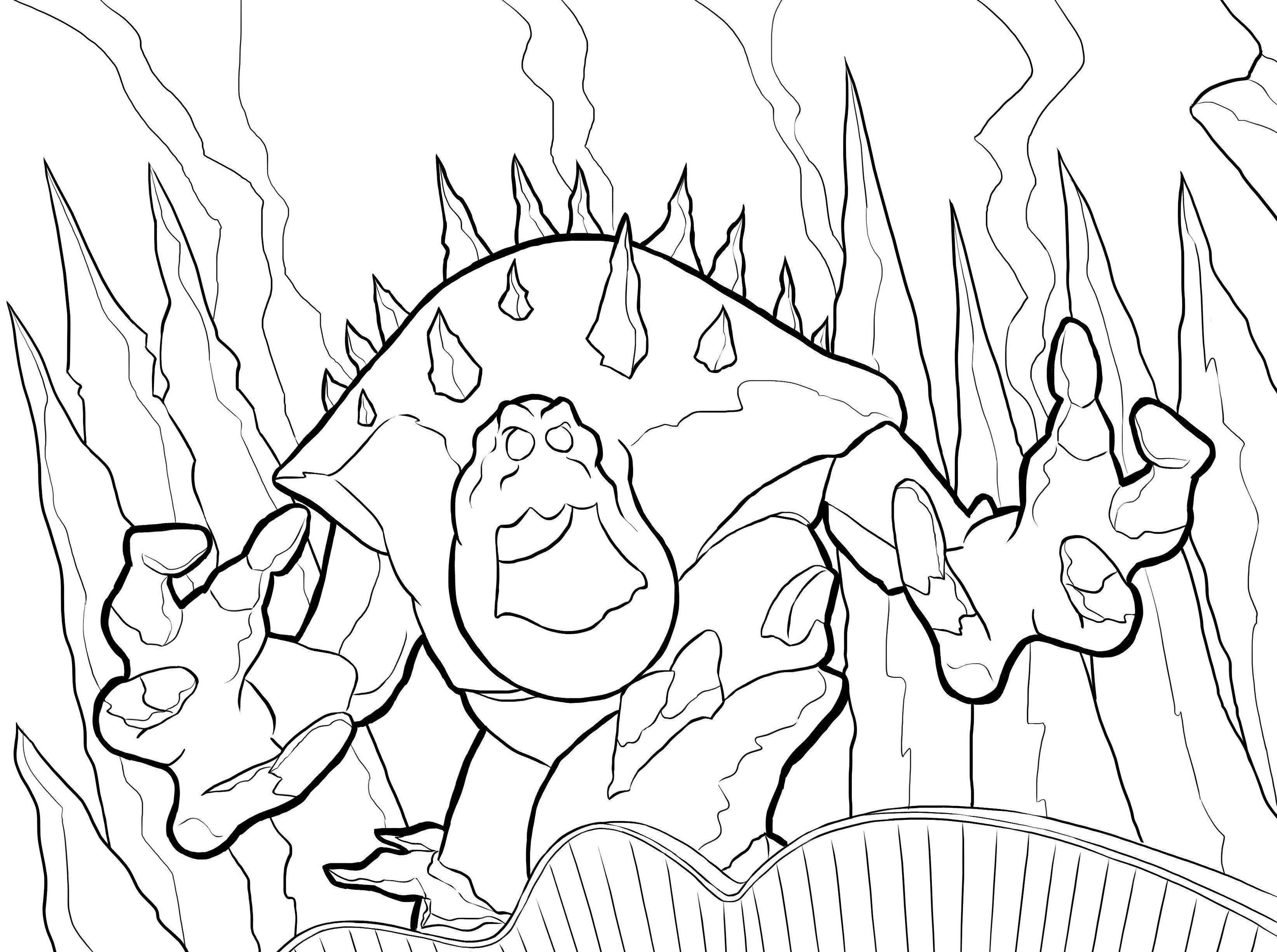 twister coloring pages - snow monster twistermc