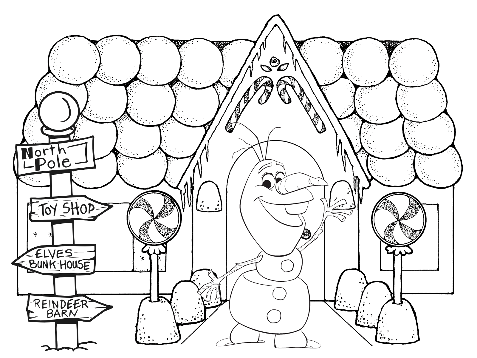 Christmas Coloring Pictures Gingerbread House Coloring Pages