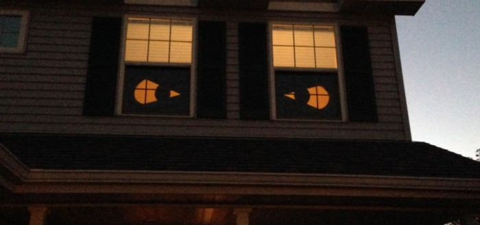 Eyes on the windows.