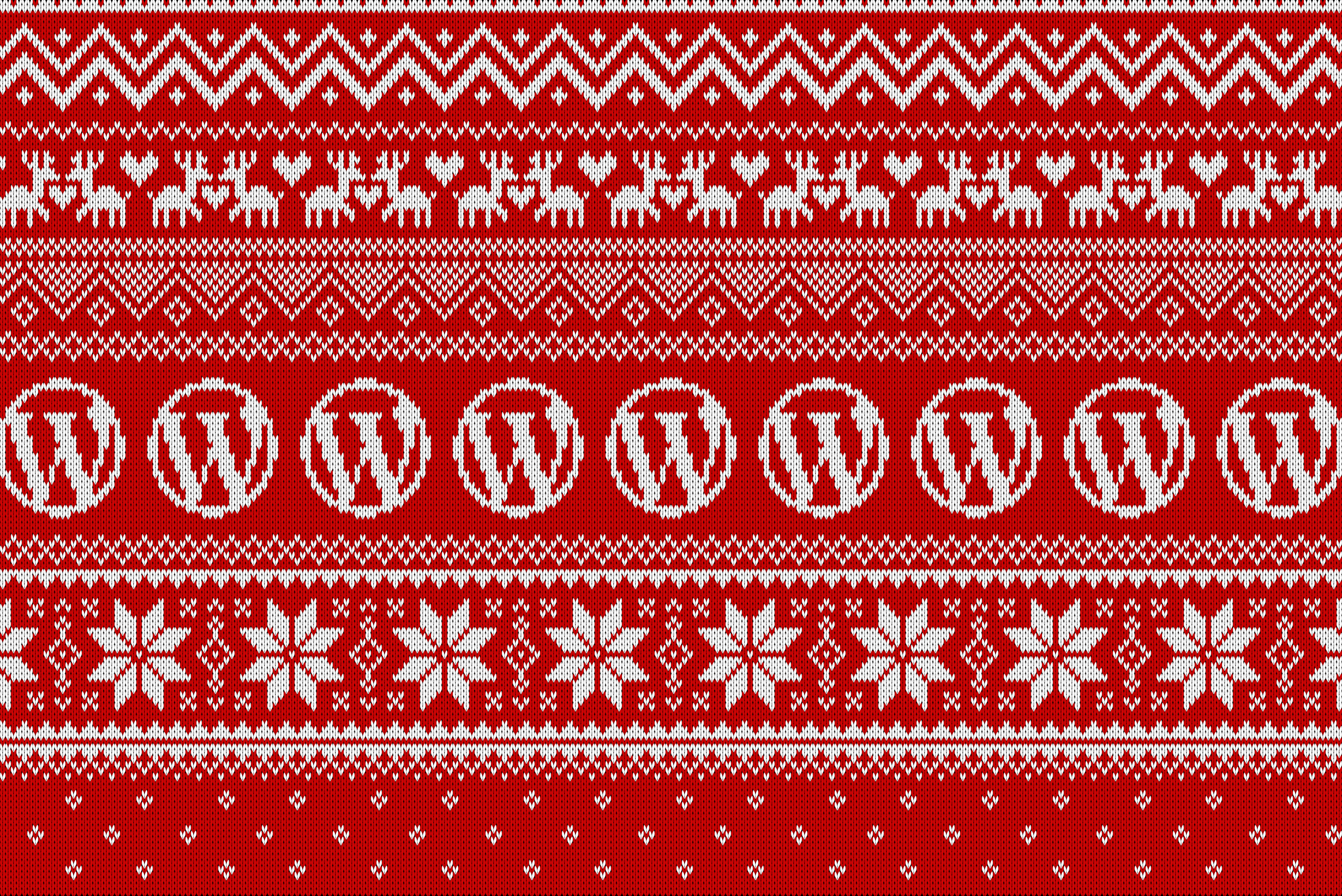 WordPress Ugly Christmas Sweater Wallpapers